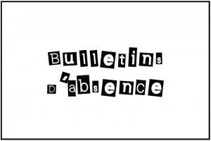 bulletin d'absence